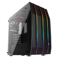 Aerocool Klaw Mid Tower 1 X Usb 3.0 / 2 X Usb 2.0 Tempered Glass Side Window Panel Black Case With Addressable Rgb Led Fans Accm-pb13033.11 - Tgt01