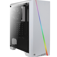 Aerocool Cylon Mid Tower 1 X Usb 3.0 / 2 X Usb 2.0 Side Window Panel White Case With Rgb Led Illumination Accm-pv10012.21 - Tgt01