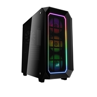Aerocool Project 7 P7c0 Mid Tower 2 X Usb 3.0 Dual Tempered Glass Side Window Panels Black Case With Rgb Led Fans & Hub Accm-p702043.11 - Tgt01