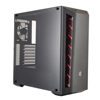 Cooler Master Masterbox Mb510l Mid Tower 2 X Usb 3.0 Side Window Panel Black Case With Red Trim Mcb-b510l-kann-s00 - Tgt01