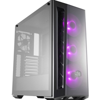 Cooler Master Masterbox Mb520 Rgb Mid Tower 2 X Usb 3.0 Edge-to-edge Tempered Glass Side Window Panel Black Case With Darkmirror Front Panel & Rgb Led Fans Mcb-b520-kgnn-rgb - Tgt01