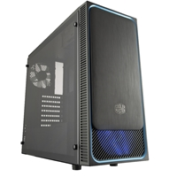Cooler Master Masterbox E500l Mid Tower 2 X Usb 3.0 Side Window Panel Black Case With Blue Trim & Blue Led Fan Mcb-e500l-ka5n-s00 - Tgt01
