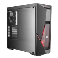 Cooler Master MasterBox K500L Mid Tower 2 x USB 3.0 Side Window Panel Black Case with Red LED Fans