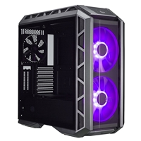 Cooler Master MasterCase H500P Full Tower 2 x USB 3.0 / 2 x USB 2.0 Tempered Glass Side Window Panel Gun Metal & Black Case with RGB LED Fans