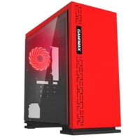 Game Max Expedition Red Micro Tower 1 X Usb 3.0 / 2 X Usb 2.0 Side Window Panel Red Case With Red Led Fan Gmx-expedition-rd - Tgt01