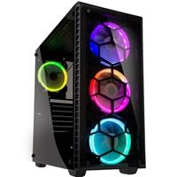 Kolink Observatory RGB Mid Tower 1 x USB 3.0 / 2 x USB 2.0 Tempered Glass Black Case