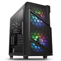 Thermaltake Commander C31 Tg Argb Edition Series Mid Tower 2 X Usb 3.0 Tempered Glass Side Window Panel Black Case With Addressable Rgb Led Fans Ca-1n2-00m1wn-00 - Tgt01