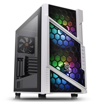 Thermaltake Commander C31 Tg Snow Argb Edition Series Mid Tower 2 X Usb 3.0 Tempered Glass Side Window Panel White Case With Addressable Rgb Led Fans Ca-1n2-00m6wn-00 - Tgt01