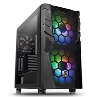 Thermaltake Commander C32 Tg Argb Edition Series Mid Tower 2 X Usb 3.0 Tempered Glass Side Window Panel Black Case With Addressable Rgb Led Fans Ca-1n3-00m1wn-00 - Tgt01
