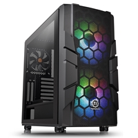 Thermaltake Commander C33 Tg Argb Edition Series Mid Tower 2 X Usb 3.0 Tempered Glass Side Window Panel Black Case With Addressable Rgb Led Fans Ca-1n4-00m1wn-00 - Tgt01
