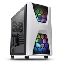 Thermaltake Commander C34 Tg Snow Argb Edition Series Mid Tower 2 X Usb 3.0 Tempered Glass Side Window Panel White Case With Addressable Rgb Led Fans Ca-1n5-00m6wn-00 - Tgt01