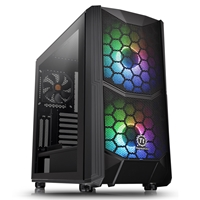 Thermaltake Commander C35 Tg Argb Edition Series Mid Tower 2 X Usb 3.0 Tempered Glass Side Window Panel Black Case With Addressable Rgb Led Fans Ca-1n6-00m1wn-00 - Tgt01