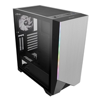 Thermaltake H550 Tg Argb Mid Tower 1 X Usb 3.0 / 2 X Usb 2.0 Tempered Glass Side Window Panel Silver Case With Addressable Rgb Led Lighting & Fan Ca-1p4-00m1wn-00 - Tgt01