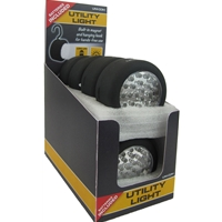 Uni-Com 24 LED Magnetic and Hook Utility Work Light (8 Pack with Counter Display Unit)