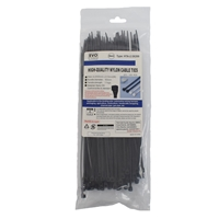 Evo Labs 100 Pack Of 200 X 2.5mm Black Retail Packaged Cable Ties 2.5x200mm Black - Tgt01