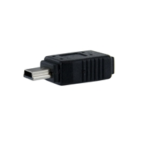StarTech USB 2.0 Micro-B (F) to USB 2.0 Mini-B (M) Black Retail Packaged Data Adapter