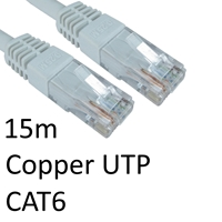 RJ45 (M) to RJ45 (M) CAT6 15m White OEM Moulded Boot Copper UTP Network Cable