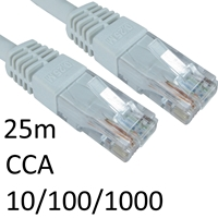 RJ45 (M) to RJ45 (M) 10/100/1000 Network 6 25m White OEM Moulded Boot CCA Economy Network Cable