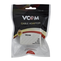 VCOM RJ11 (F) to 2 x RJ11 (F + F) White Retail Packaged ADSL Micro Filter Splitter Adapter