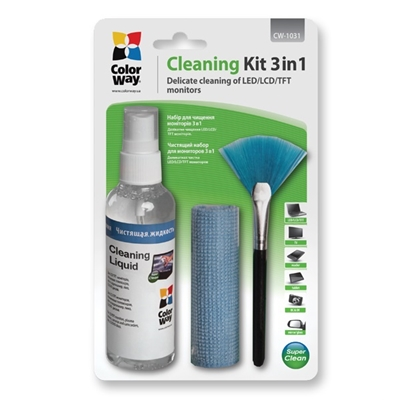 Colorway Multipurpose 3 in 1 Cleaner Set with Microfiber Cloth f