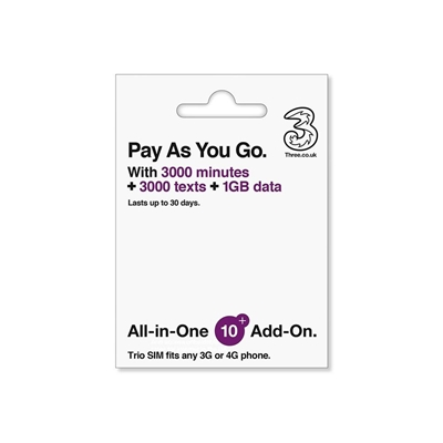 Three All in One SIM 1GB