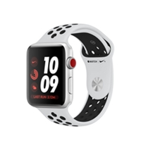 Apple Watch Series 3 Nike+ Silver Aluminium Case With Pure Platinum/black Nike Sport Band - 42mm With Gps & Cellular Mqme2b/a - Tgt01