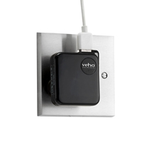 Veho VAA-003-B Universal USB UK Mains Plug Converter Black