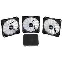 Aerocool Project 7 3 x P7 F12 120mm RGB LED Fans & P7-H1 RGB PWM Fan Hub Pack