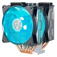 Cooler Master Masterair Ma620p Universal Socket 2 X 120mm 1800rpm Rgb Fans Black Fan Cpu Cooler With Rgb Controller Map-d6pn-218pc-r1 - Tgt01