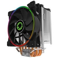 Game Max Gamma 500 Universal Socket 120mm Pwm 1800rpm Addressable Rgb Led Fan Cpu Cooler With Wired Addressable Rgb Controller Gamma 500-argb - Tgt01
