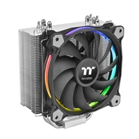 Thermaltake Riing Silent 12 Rgb Sync Edition Universal Socket 120mm Pwm 1500rpm Rgb Led Ring Fan Cpu Cooler Cl-p052-al12sw-a - Tgt01