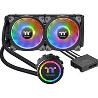 Thermaltake Floe Dx Rgb 240mm Tt Premium Edition Universal Socket 280mm 1400rpm Rgb Led Aio Liquid Cpu Cooler With Wired Rgb Controller Cl-w255-pl12sw-a - Tgt01