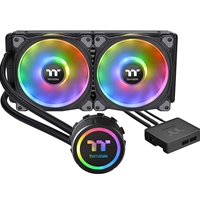 Thermaltake Floe Dx Rgb 280mm Tt Premium Edition Universal Socket 280mm 1400rpm Rgb Led Aio Liquid Cpu Cooler With Wired Rgb Controller Cl-w257-pl14sw-a - Tgt01