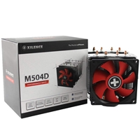 Xilence Xc044 M504d Universal Socket Dual Fan Black & Red Fan Cpu Cooler Xc044 - Tgt01