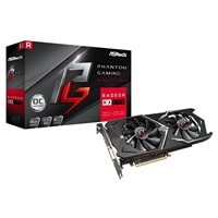 Asrock Phantom Gaming X Radeon Rx570 4gb Oc Dual Fan Graphics Card Phantom Gdr Rx570 4g - Tgt01