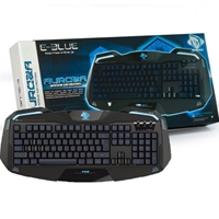 E-Blue Auroza Backlit Black Metallic Gaming Keyboard - USB