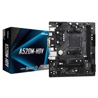 Asrock A520m-hdv Amd Socket Am4 Micro Atx Hdmi/vga/dvi M.2 Usb 3.2 Gen1 Motherboard A520m-hdv - Tgt01