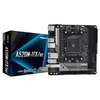 Asrock A520m-itx/ac Amd Socket Am4 Mini Itx Hdmi/displayport Usb 3.2 Gen1 M.2 Wifi Motherboard A520m-itx/ac - Tgt01
