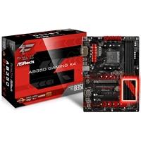 ASRock Fatal1ty AB350 Gaming K4 AMD Socket Ryzen ATX DDR4 D-Sub/DVI-D/HDMI M.2/Ultra M.2 USB 3.0/Type-C Motherboard