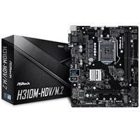 ASRock H310M-HDV/M.2 Intel Socket 1151 Coffee Lake Micro ATX DDR4 D-Sub/DVI-D/HDMI M.2 USB 3.1 Motherboard