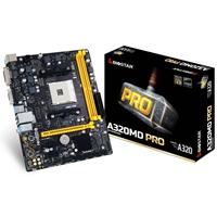 Biostar A320MD PRO Ver. 6.x AMD Socket AM4 Ryzen Micro ATX DDR4 VGA/DVI-D USB 3.1 Motherboard