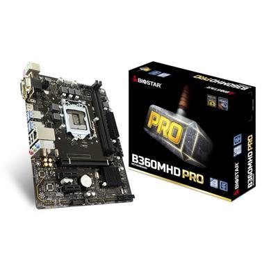 Biostar B360MHD PRO Intel Socket 1151 Coffee Lake Micro ATX DDR4