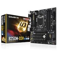 Gigabyte GA-B250M-D3H Intel Socket 1151 Kaby Lake Micro ATX DDR4 D-Sub/DVI-D/HDMI/DisplayPort M.2 USB 3.1 Motherboard
