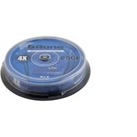 Aone 4x 25gb Blu-ray Disc Full Face Printable 10 Pk Spindle Dvd-br-a1-ij-4x25gb-10 - Tgt01
