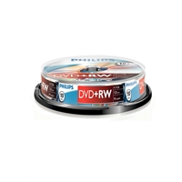 Philips DVD+RW 4X 10PK Spindle