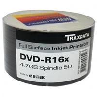 Ritek Traxdata Dvd-r 16x 600pk (12 X 50) Boxed Printable Ritek 16x 600pk - Tgt01