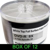 Dvd-r 8x 600pk (12 X 50) Boxed Printable Ritek 8x 600pk - Tgt01