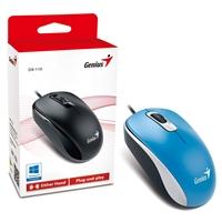 Genius DX-110 Blue USB Full Size Optical Mouse