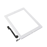 Economy iPad 4 Compatible Touch Screen Assembly White Copy