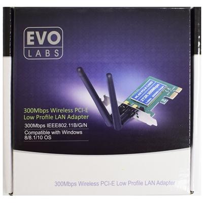 Evo Labs PCI-Express Low Profile N300 WiFi Card